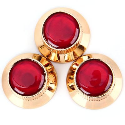 kb-52-3pcs-top-hat-style-professional-golden-control-knobs-for-electric-guitar-with-red-resin-head