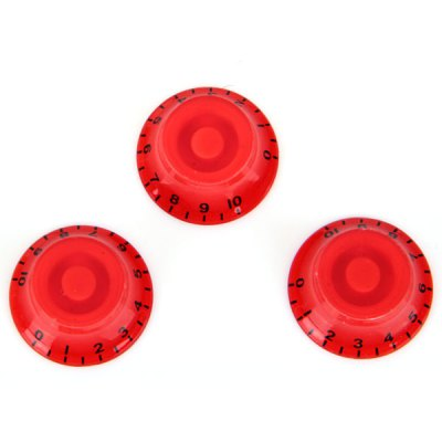 KB-18 3PCS Vintage Style Speed Control Knobs for Electric Guitar (Red)