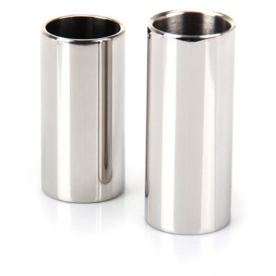 2PCS Silver Stainless Steel Guitar Slide