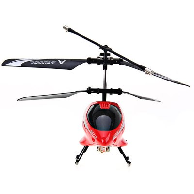 HX713 2 - Channel Exquisite Model Alloy Body Excellent Performance RC Remote Control Helicopter (Red)