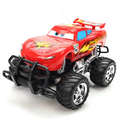 NO.6605 Exquisite Cars Member Lightning McQueen Rip Stick Racers R/C Car Toy  -  Red