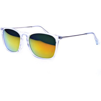 Retro Style Sunglasses with Transparent Frame and High Quality PC Lenses