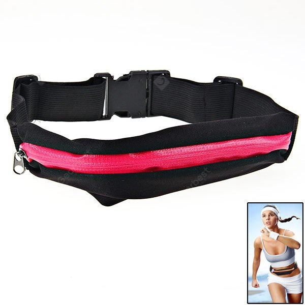 Zippers Elasticity Sports Waist Bag for Sport with Adjustable Strap