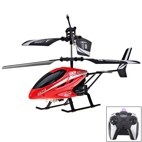 HX713 2 - Channel Exquisite Model Alloy Body Excellent Performance RC Remote Control Helicopter (Red