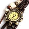 best IELY Quartz Watch with 12 Numbers Indicate Leather Watch Band for Women (Dark Brown)