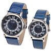 WLQR Couple's Watch with Round Dial Leather Watchband