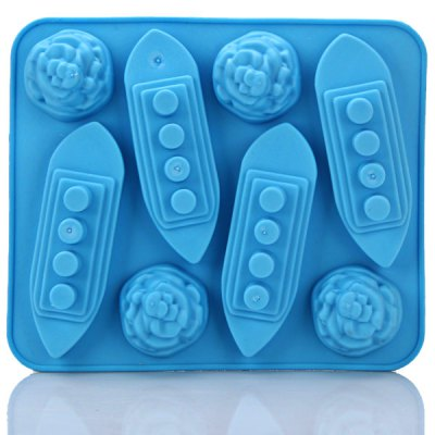 Durable and High Quality Titanic Shape Ice Mould Ice Cube Maker Tray Kitchen DIY Tool