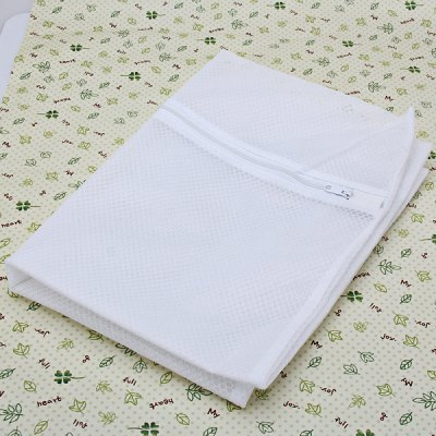 Square Thicken 50 x 70 cm White Laundry Bag with Zipper