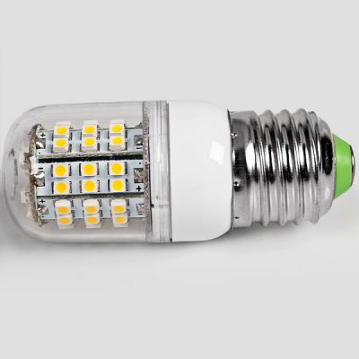 E27 60 - SMD 3528 LED 4W 200 - 240V 360lm Warm White Corn LampLED Light Bulbs<br>E27 60 - SMD 3528 LED 4W 200 - 240V 360lm Warm White Corn Lamp<br><br>Base Type: E27<br>Type: Corn Bulbs<br>Total Emitters: 60 x 3528 SMD LED<br>Voltage (V): AC 200-240V<br>Features: Low Power Consumption, Long Life Expectancy, Energy Saving<br>Function: Home Lighting, Commercial Lighting, Studio and Exhibition Lighting<br>Available Light Color: Warm White<br>Sheathing Material: Plastic<br>Product Weight: 0.025 kg<br>Package Weight: 0.035 kg<br>Product Size (L x W x H): 8 x 3 x 3 cm<br>Package Size (L x W x H): 9 x 4 x 4 cm<br>Package Contents: 1 x Corn Light