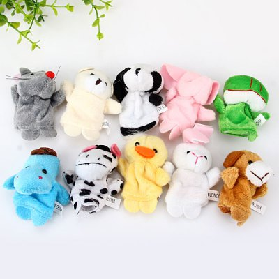 Set of 10PCS Lovely Funny Finger Puppets Animals Figures Group Educational Toy for BabyPuppets<br>Set of 10PCS Lovely Funny Finger Puppets Animals Figures Group Educational Toy for Baby<br><br>Type: Intelligence toys<br>Age: 3 Years+<br>Material: Nylon<br>Design Style: Animal<br>Features: Educational<br>Puzzle Style: Other<br>Small Parts : No<br>Washing : Yes<br>Applicable gender: Unisex<br>Package Weight   : 0.050 kg<br>Package Size (L x W x H)  : 14 x 9 x 4 cm<br>Package Contents: 10 x Finger Puppet