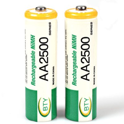 Гаджет   Low Carbon and Environment Friendly BTY LR06 AA 1.2V 2500mAh Ni-MH Rechargeable Battery - 2Pcs Batteries