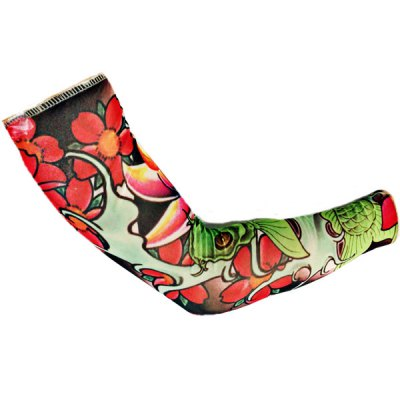 2PCS Fish Pattern Bicycle Arm Oversleeves Cycling Tattoo Sleeves for Summer or Spring