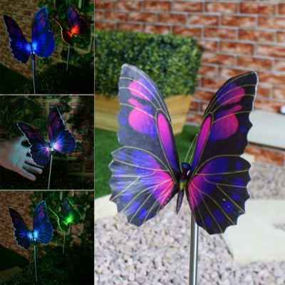 CIS-57125 Solar Butterfly Stake Light - 2Pcs