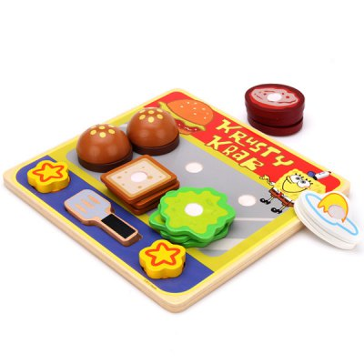 SpongeBob SquarePants Feature Eco - friendly Wooden Cooking Items Educational Children Toy for Stimulating Imagination