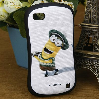 Cute Despicable Me Style Protective Silicone and Hard PC Shell Case for iPhone 4 / 4S