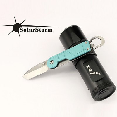 Solarstorm K2 Cree XM - L U2 890lm 5 - Mode 18650 / 26650 LED FlashlightLED Flashlights<br>Solarstorm K2 Cree XM - L U2 890lm 5 - Mode 18650 / 26650 LED Flashlight<br><br>Brand: Solarstorm<br>Model: K2<br>Emitter Type: XM-L U2<br>Total Emitter: 1 x Cree XML U2<br>Lumens: 890<br>Feature: Stainless Steel Bezel<br>Function: Exploring, Camping, Fishing, Hiking, Seeking Survival, Walking, Fishing, Night Riding, Hunting<br>Battery Type: 18650, 26650<br>Battery Quantity: 1 x 26650 / 1 x 18650 (not included)<br>Mode: 5 (High &gt; Mid &gt; Low &gt; Strobe &gt; SOS)<br>Adjustable Focus: No<br>Rechargeable: No<br>Waterproof: IPX-8 Standard Waterproof (Underwater 2m)<br>Power Source: Battery<br>Working Voltage: 3-18V<br>Reflector: Aluminum Textured Orange Peel Reflector<br>Lens: Toughened Ultra-clear Glass Lens with Anti-reflective Coating<br>Beam Distance: 300-400m<br>Body Material: Aluminium Alloy with Stainless Steel<br>Available Color: Black<br>High Mode: 890 Lumens (2 hours)<br>Mid Mode: 380 Lumens (6 hours)<br>Low Mode: 90 Lumens (25 hours)<br>Package weight: 0.230 kg<br>Package size (L x W x H): 14 x 5 x 5 cm<br>Package Contents: 1 x Flashlight