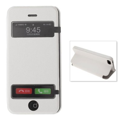 Dormancy & View Window Case with Stand Function for iPhone 5