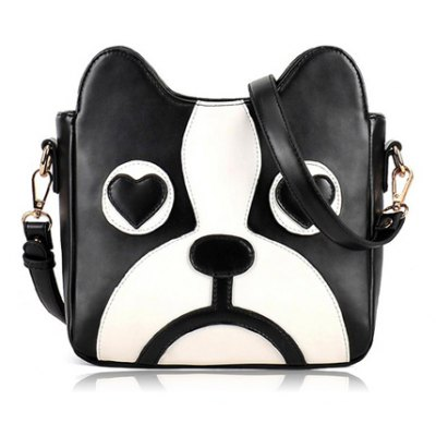 Puppy Pattern and PU Leather Design Crossbody Bag For Women
