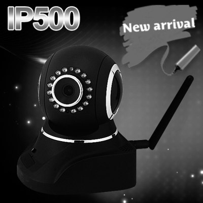 IP500 IR Night Vision Wireless IP Camera 1/4 inch Chip CMOS Sensor 6mm 16 - LED Lens (Black)