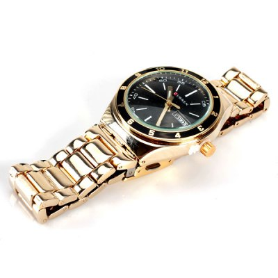 Гаджет   TuHao Waterproof Watch with Multi - function Date and Day Round Dial and Steel Band for Men Men