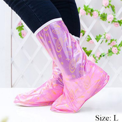 Size L Side Zipper Design Slip - resistant Waterproof Thickening Rain Boot Shoes Cover