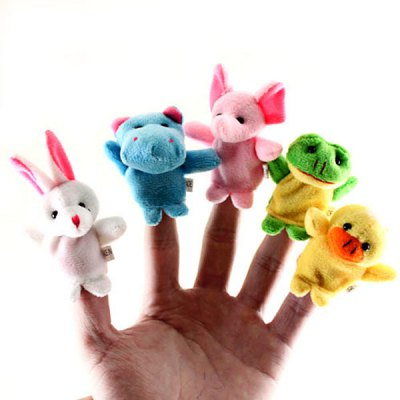 Cool Finger Toys Animal Models Baby Doll Finger Puppet от GearBest.com INT