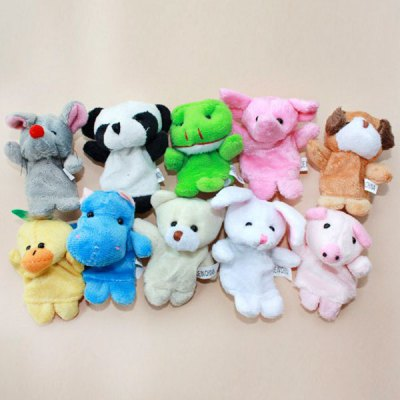 Cool Finger Toys Animal Models Baby Doll Finger PuppetPet Supplies<br>Cool Finger Toys Animal Models Baby Doll Finger Puppet<br><br>Type: Toy<br>Style: Funny<br>Functions: Playing characters to talk to kids<br>Features: Educational toys<br>Material: Cotton<br>Package Quantity: 6 pcs<br>Color: Multi-Color<br>Product weight   : 36 g<br>Package weight   : 0.05 kg<br>Package size (L x W x H)  : 13 x 9 x 5 cm<br>Package Contents: 6 x Puppets