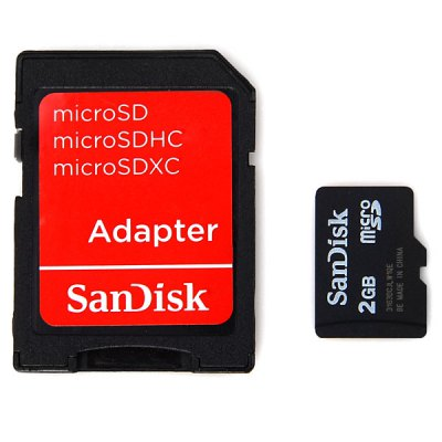 SanDisk 2GB Class 4 Super Speed Micro SD/SDHC Card (Black)