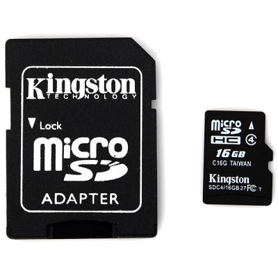 Гаджет   Kingston 16GB Calss4 Super Speed Micro SD/SDHC Card Memory Cards