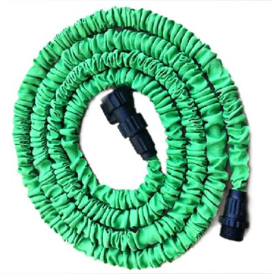 Гаджет   25FT High Quality Cloth Surface Soft Expandable and Flexible Garden Hose Water Pipe with 7-in-1 Spray Gun (Green) Garden Supplies