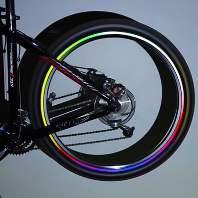 20 Sheets Bicycle Wheel Reflective Stickers Motorcycle Wheel Safe Accessories (Red, Yellow, Blue,Green)