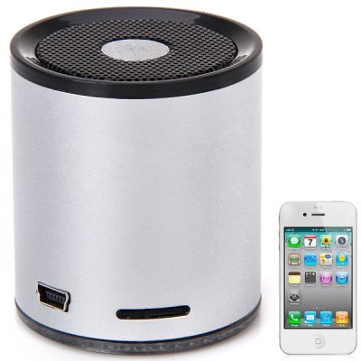 A1021 Bluetooth V2.0 Cylinder Design Mini MIC Speaker Support TF Card/