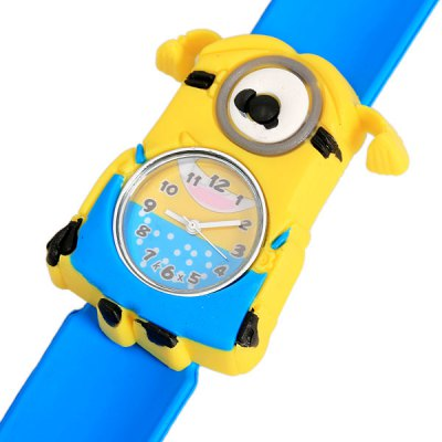 Гаджет   Single Eye Despicable Me Minion Dave Shaped Case Design Pat Watch with Silica Gel Band