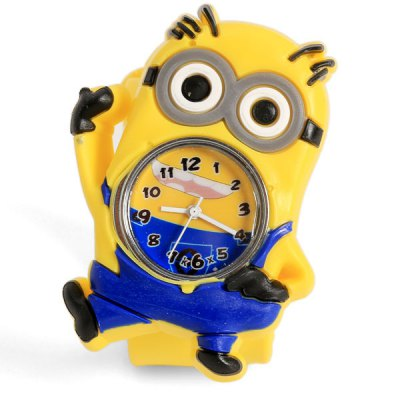Гаджет   Posturing Despicable Me Minion Dave Shaped Case Design Watch with Silica Gel Band Watches