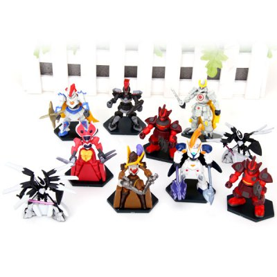 10pcs/lot Classic Anime Carton Fighters 5 to 7 cm Height Fighters Characteristic Figure Models with Standing Bases