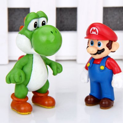 Гаджет   10pcs/lot Classic Anime Super Mario 2.5 to 6 cm Height Characteristic Collection Figure Models Dolls & Action Figures