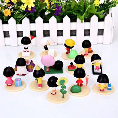 Гаджет   14pcs/lot Anime Characters Reduction Chibi Maruko Chan The Stages of Maruko in One Happy Year Figure Models Toy Dolls & Action Figures