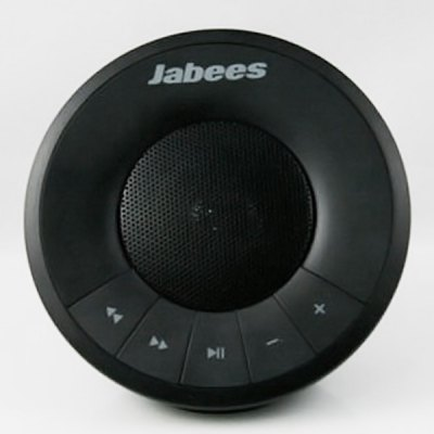 Portable Jabees Hemisphere Bluetooth Speaker with 7 Hours Playing Time  -  Black