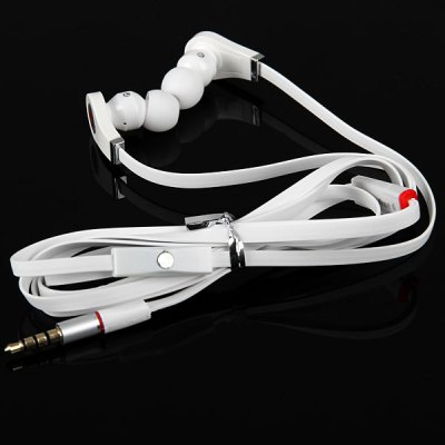 Tangle - free Flat Cable High Quality Sound Deep Bass 3.5MM Audio Jack Stereo Earphone with Mic