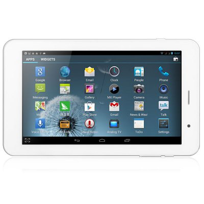 IPPO T7 Android 4.1 3G Phone Tablet PC with 7 inch WSVGA Screen MTK8377 Dual Core 1.2GHz 8GB Bluetooth Ethernet Camera GPS Analog TV - Silver