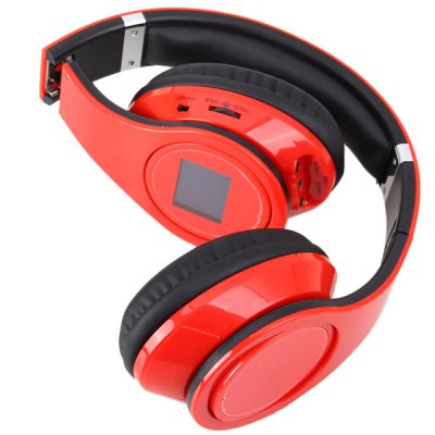 Гаджет   BQ-508 Fashion Compact Design Wireless Headset Sports MP3 Player with Electronic Screen (Red) Headsets