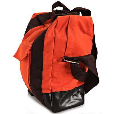 Hard-wearing Preppy Style Canvas Travelling Bag Zipper Design with Anti-theft Pocket (Orange)Backpacks<br>Hard-wearing Preppy Style Canvas Travelling Bag Zipper Design with Anti-theft Pocket (Orange)<br><br>Type: Preppy Style<br>For: Travel<br>Material: Canvas<br>Capacity: 1<br>Color: Khaki, Yellow<br>Package weight   : 594 g<br>Package size (L x W x H)  : 35.0 x 34.0 x 2.5 cm<br>Package Contents: 1 x Travelling Bag