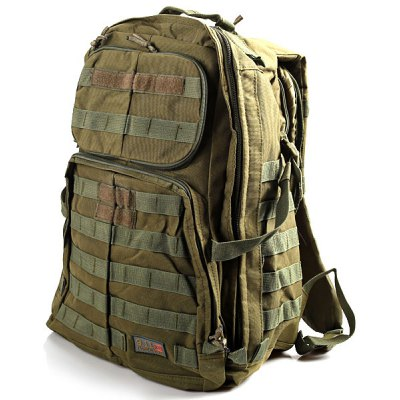 Multi-functional Outdoor Backpack Double-shoulder Bag - Army Green