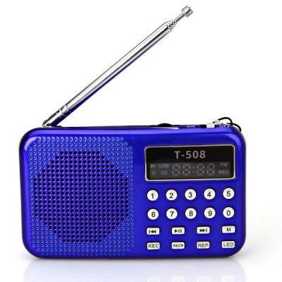 T - 508 LED Display Screen Mini Speaker with TF Card Read Function