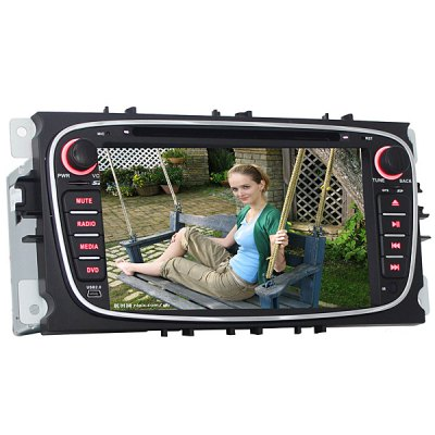 J-8628MX 7 Inches Digital Touch Screen Car Accessories GPS DVD Player for Ford Mondeo