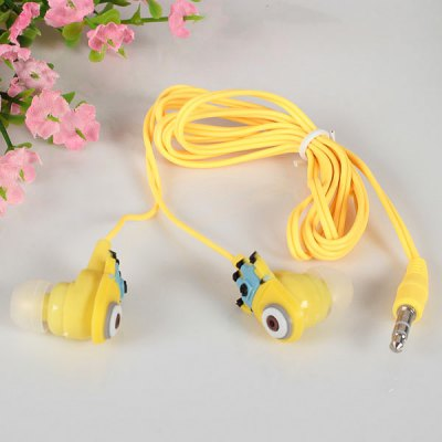 3.5mm Ear Phones with Cute Bee-do Lance Pattern