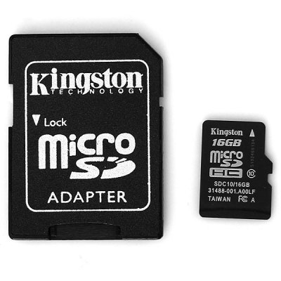 Kingston 16GB Class 10 Hot Sale Micro SD/SDHC Memory Card with SD Adapter