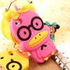 cheap Glasses Duck Pattern High Quality of Silicone Protective Case Cover for iPhone 5