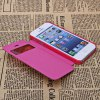 best Fashion Style PC + PU Leather Shell Case for iPhone 5G with Call Display Function