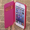 Fashion Style PC + PU Leather Shell Case for iPhone 5G with Call Display Function deal